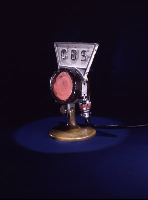 Microphone used by President Franklin D. Roosevelt during his fireside chats in the 1930s.