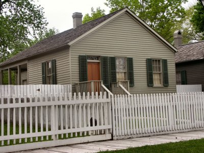 Home of Julia Sprigg. Her daughter babysat the Lincoln boys. National Park Service photo.