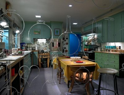 The kitchen of cookbook author and TV chef Julia Child.