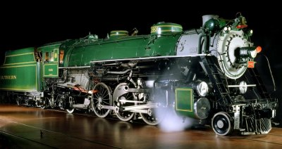 Southern Railway's steam locomotive No. 1401, one of the locomotives that led President Franklin Roosevelt's funeral train from Warm Springs, Ga., where he died, to Washington in April 1945.
