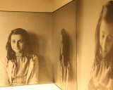 Photos of Anne Frank at the Anne Frank House in Amsterdam.
