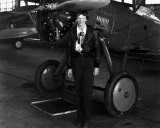 Amelia Earhart in 1936, one year before her disappearance. --Image: National Archives, Army Air Corps.