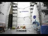 Preparations were underway to launch a satellite.