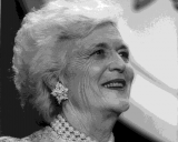 First Lady Barbara Bush died Tuesday.