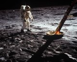 "Edwin E. ""Buzz"" Aldrin Jr., on the moon July 20, 1969, in a photo taken by Neil A. Armstrong, Apollo 11 commander."