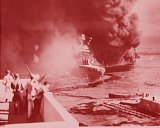 The USS California billowed smoke after the attack.