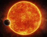 The planet orbits a red dwarf star, which is cooler than our sun.