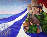 Fidel Castro, featured in a dramatic mural at a Cuban museum.