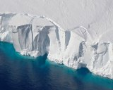 The Getz Ice Shelf in Antarctica is experiencing high melt rates.