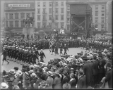 "A ""recruiting parade"" in New York City, 1917."