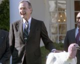 President George H.W. Bush formally pardoned the turkey. Image: U.S. National Archives.