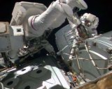 Astronauts made repairs during spacewalk. Image: NASA.