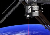 An artist's concept of the laser transmission. Image: NASA.