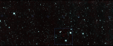 The six red dots in this composite picture indicate the location of the first new near-Earth asteroid seen by NASA's Near-Earth Object Wide-field Infrared Survey Explorer (NEOWISE). --NASA image.