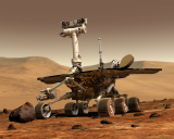The Rover Opportunity has suspended operations during a storm