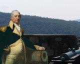 Henry Knox moved cannons from New York to Boston. Image: Gilbert Stuart's 1820 painting of Knox. Photo: StudyHall.Rocks.