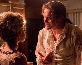 Peggy Shippen (Ksenia Solo) tempts Benedict Arnold (Owain Yeoman).