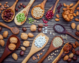 Legumes and nuts are rich in nutrients.