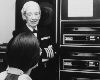 In 1976, Grace Hopper was still at work for the Navy.