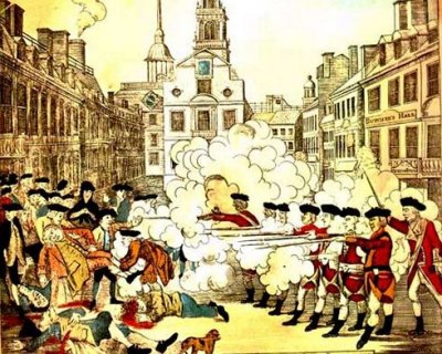 Paul Revere made this engraving and sold it to stir up anti-British sentiment. Drawn by Henry Pelham, it was powerful colonial propaganda -- but inaccurate.