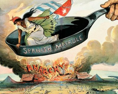 """Spanish Misrule"" by Louis Dalrymple, 1890s, Puck magazine."