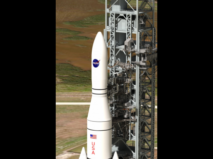 Artist's concept:  NASA's Space Launch System.