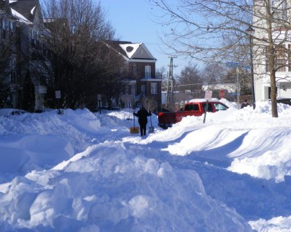 In Northern Virginia, neighbors were digging out after the storm.