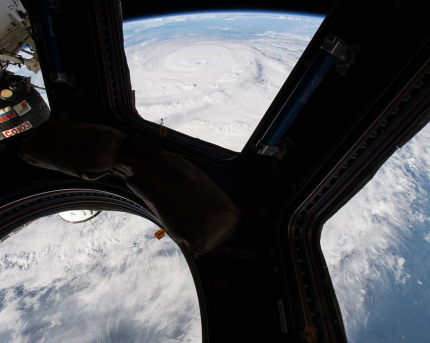 Photo of Hurricane Harvey taken at the International Space Station.