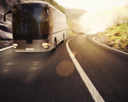 Bus travel is an environmentally friendly way to travel.