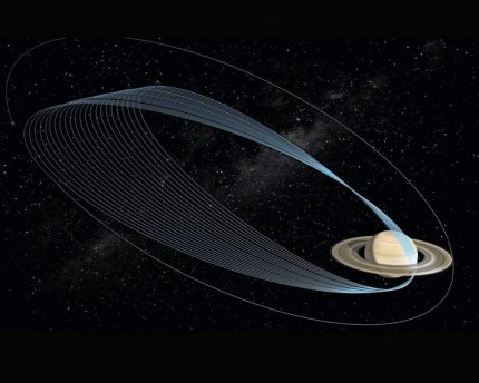 The Cassini spacecraft will offer a close-in view of Saturn.