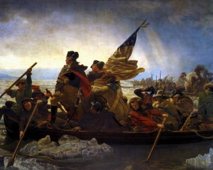 """Washington Crossing the Delaware"" by Emanuel Gottlieb Leutze."
