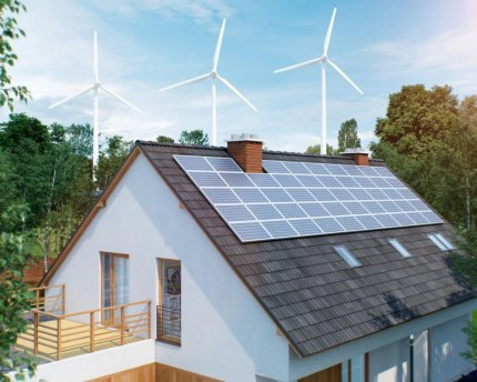 Future homes will use alternative energy sources.