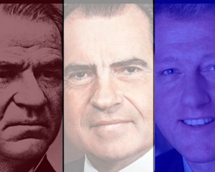 Andrew Johnson, Richard Nixon and Bill Clinton.