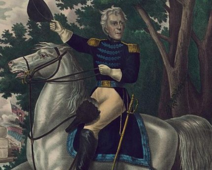 Andrew Jackson during his days as military leader.