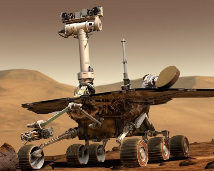 A dust storm on Mars halted the rover Opportunity.
