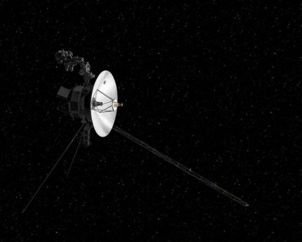 Artist's concept of the Voyager spacecraft.