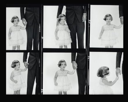 Caroline Kennedy, photographed with her father, in 1961.