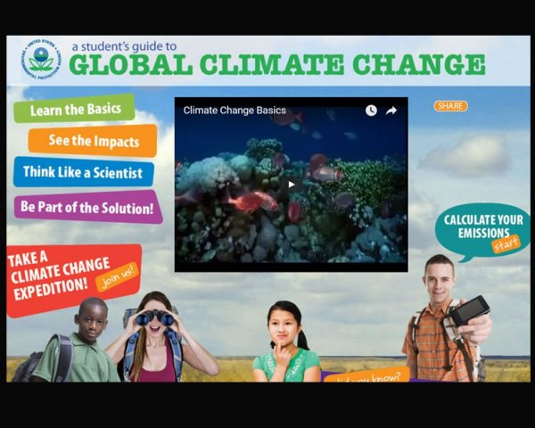 The EPA removed a kid-friendly web page on climate change.