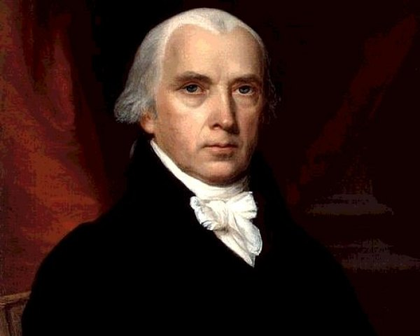 James Madison's presidential portrait, by John Vanderlyn in 1816.