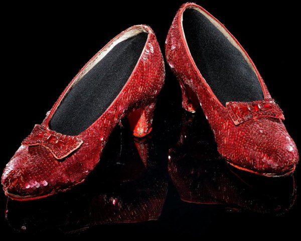 The ruby slippers used in The Wizard of Oz are deteriorating.